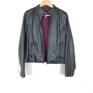 Hillard & Hanson Leather Jacket sz M